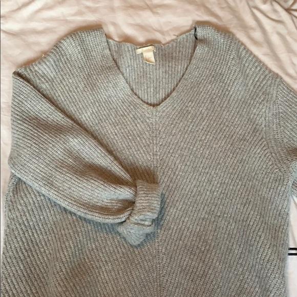Grey Oversized Wool H&M Sweater